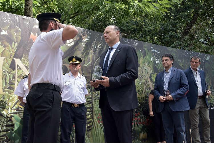 Berni al participó de dos actos por el día de la Policía en Vicente López y Tigre