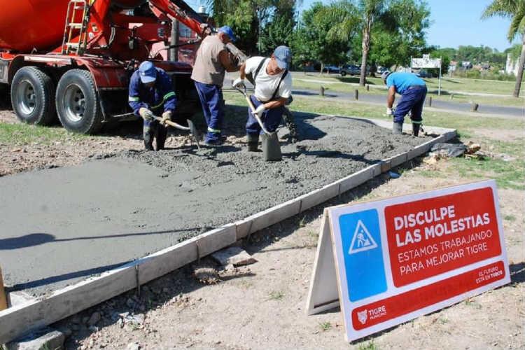 Tigre construye una nueva senda aeróbica en Troncos del Talar