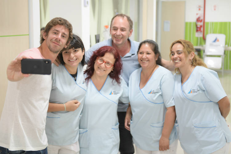 El Intendente Juan Andreotti saludó a los trabajadores del Hospital Municipal por las fiestas