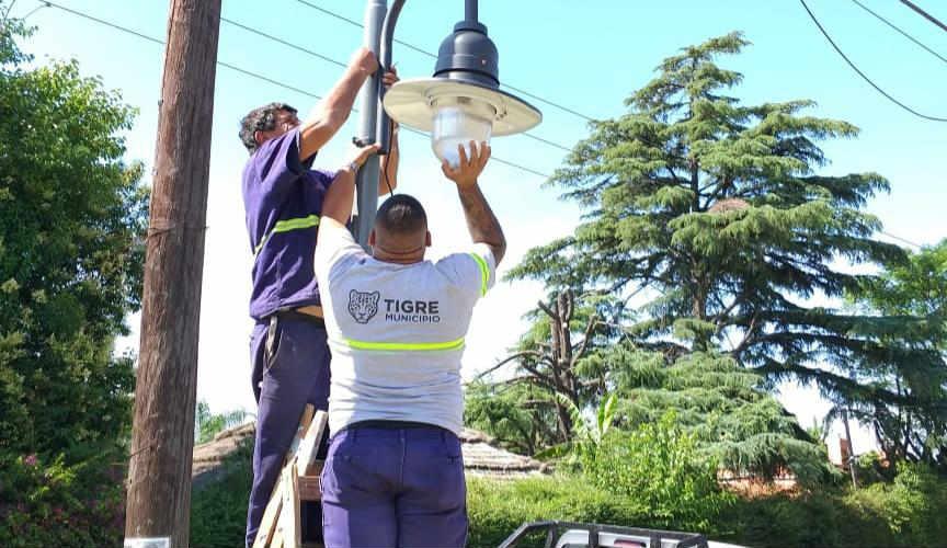 Nuevas luces de vereda en El Talar