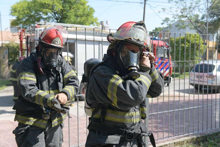 Simulacro de evacuación en el Jardín Maternal Santa Catalina de San Fernando