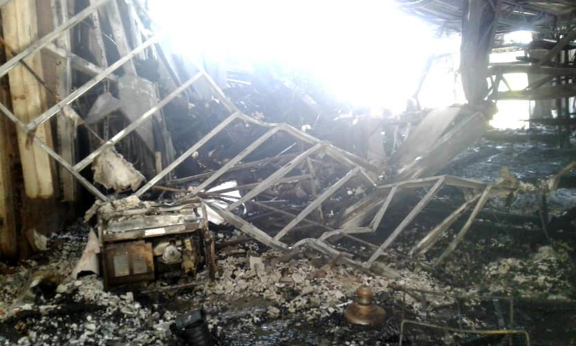 Incendio en club de remo escandinavos en el delta de Tigre.