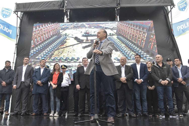 Sergio Berni presentó el Operativo Sol 2019-2020 en un acto realizado este lunes en Mar del Plata