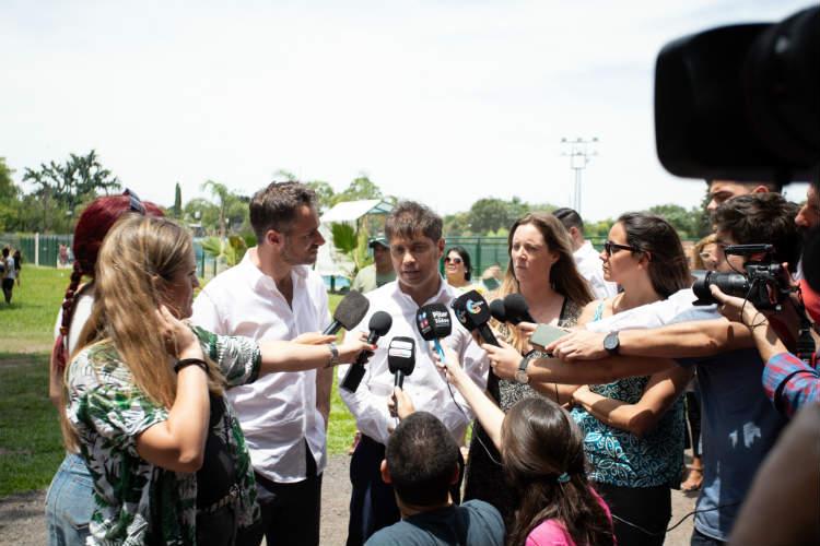 Kicillof visitó las Escuelas Abiertas en Verano de Pilar