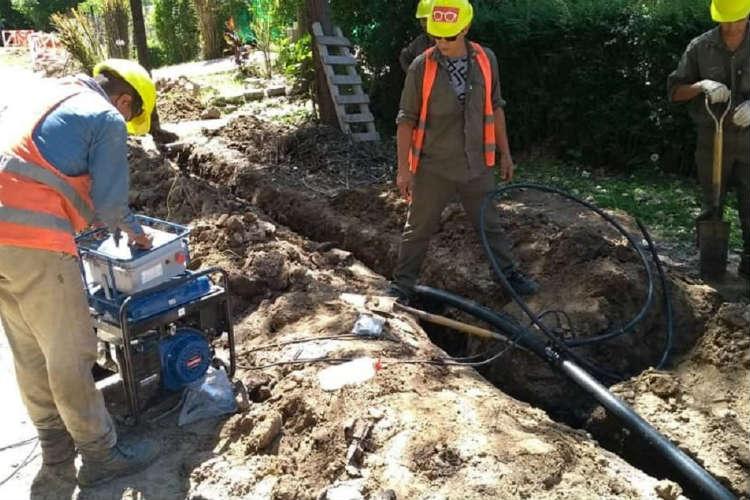 Progresa una nueva obra de agua potable en Rincón de Milberg