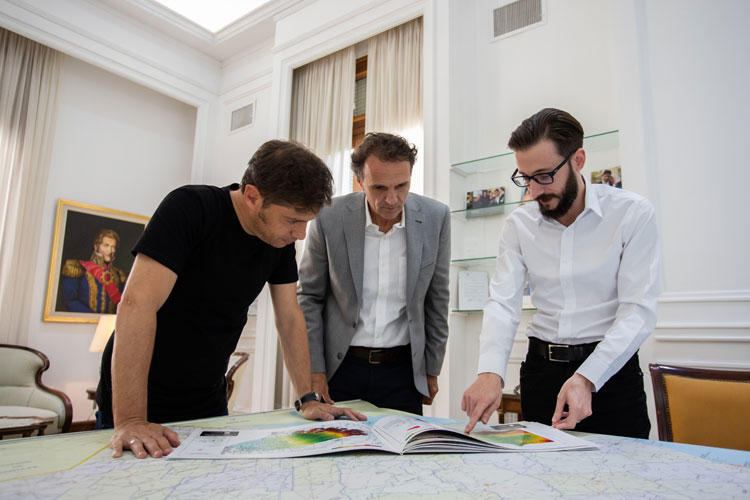 Kicillof se reunió con Katopodis para definir un plan de obras públicas
