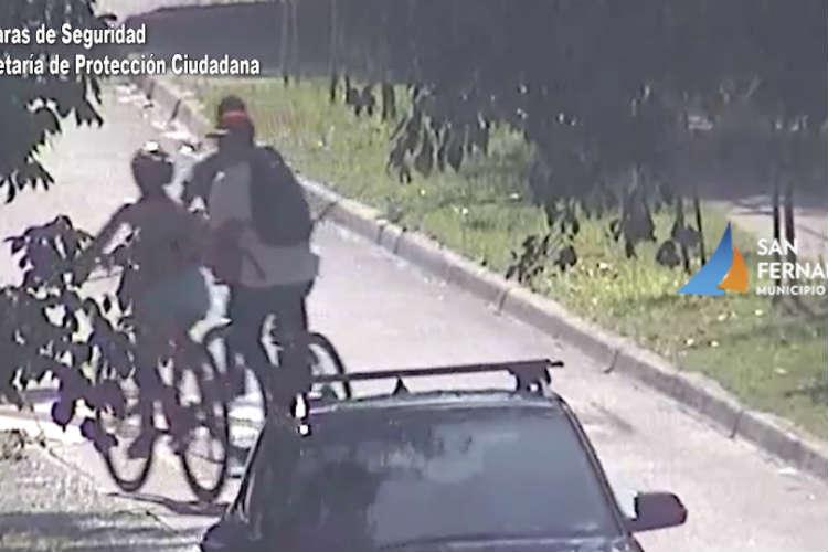 Ladrón de bicicleta detenido en San Fernando.