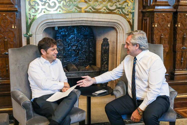 Fernández recibió a Kicillof en Casa Rosada para aflojar la tensión en seguridad