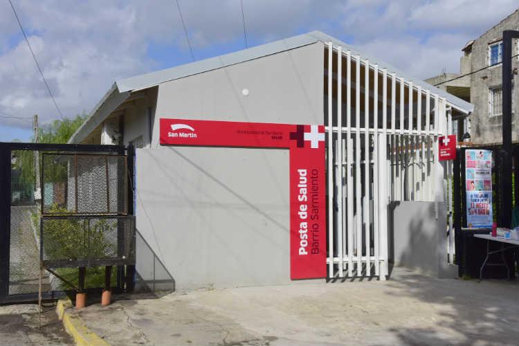 San Martín reabrió el Centro de Salud de Barrio Sarmiento