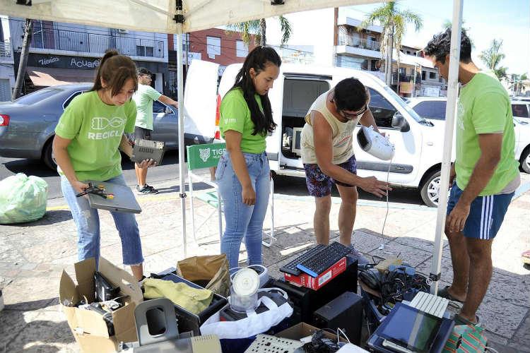 Tigre realiza su tercera Feria de Recolección de Residuos Electrónicos en Don Torcuato