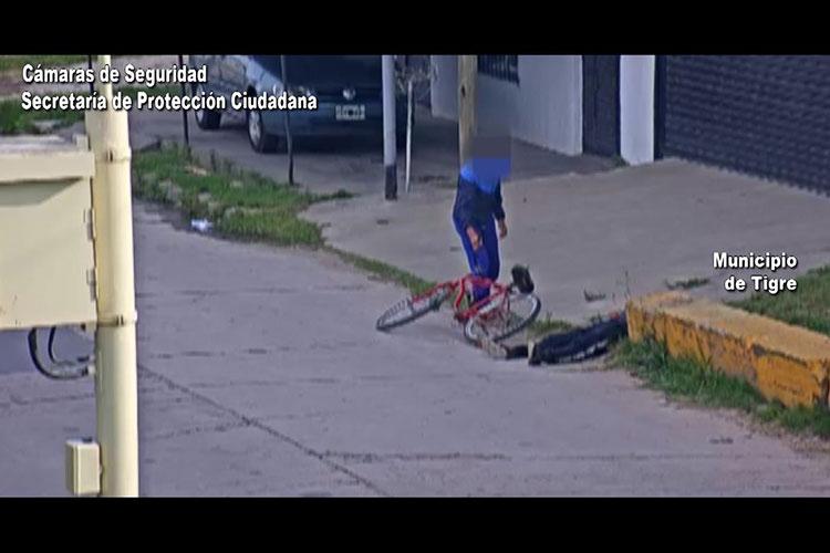 Le robaron la bicicleta a un hombre inconsciente en Troncos del Talar