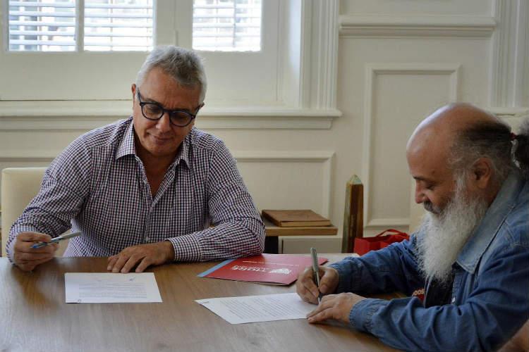 Tigre y el Ministerio de Desarrollo Social firmaron un convenio para realizar trabajos de pintura en escuelas de la ciudad