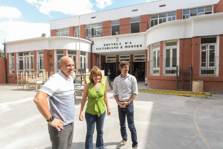 Avanza la  obra de renovación de la Primaria N°6 y Secundaria N°23 de San Fernando