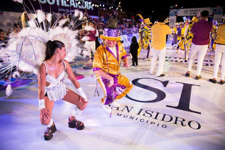 Más de 25 mil personas bailaron al ritmo del carnaval en San Isidro