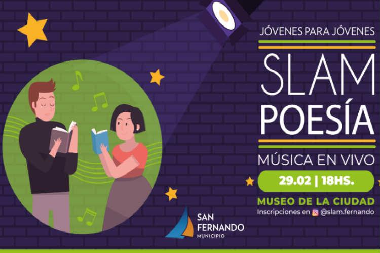 """Primera competencia """"Slam"""" de Poesía en San Fernando"""