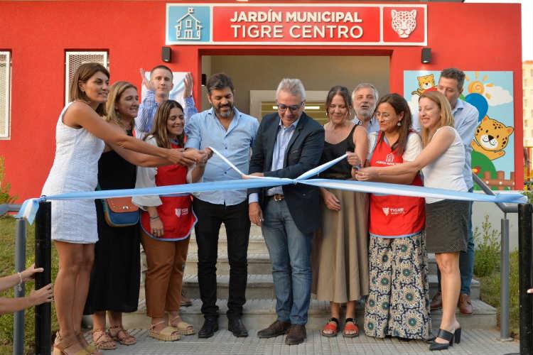Julio Zamora inauguró el Jardín Municipal de Tigre centro