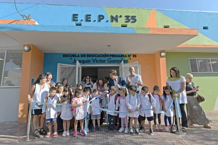 Juan Andreotti inauguró la renovada Escuela Provincial Nº 35 de San Fernando