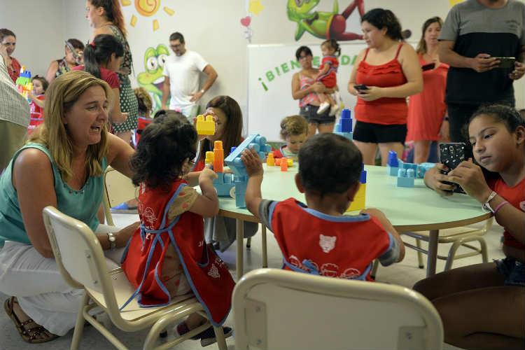 Comenzaron las clases en el jardín municipal de Tigre centro