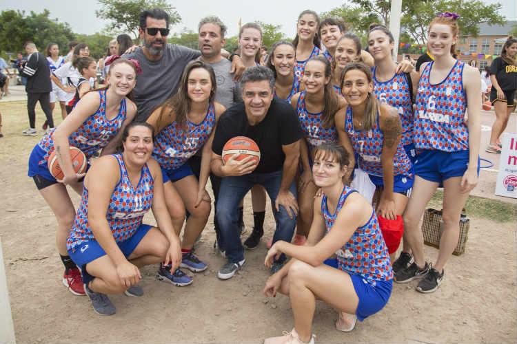 Jorge Macri participó del lanzamiento de la Liga Nacional Femenina de Básquet