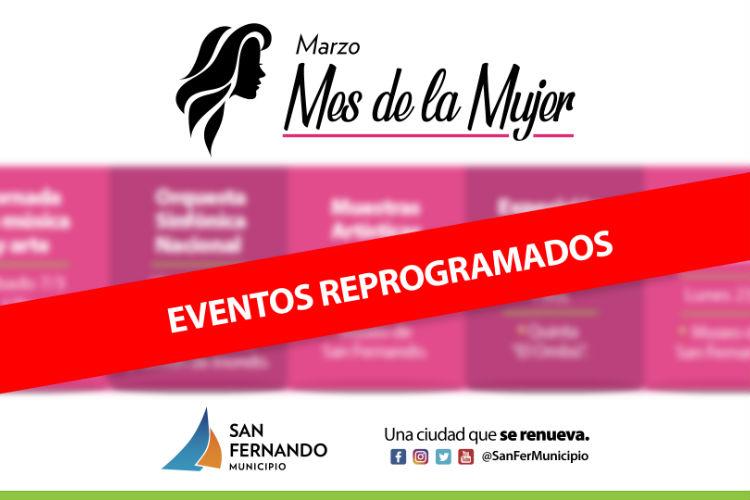 San Fernando suspende momentáneamente sus actividades culturales por prevención sanitaria