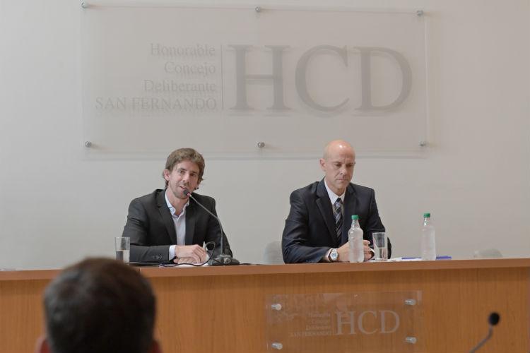 Juan Andreotti inauguró la asamblea legislativa en el HCD de San Fernando
