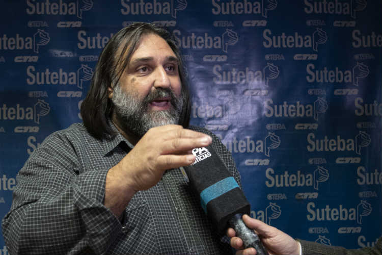 """Roberto Baradel: """"La propuesta salarial debe estar por encima de la inflación"""""""
