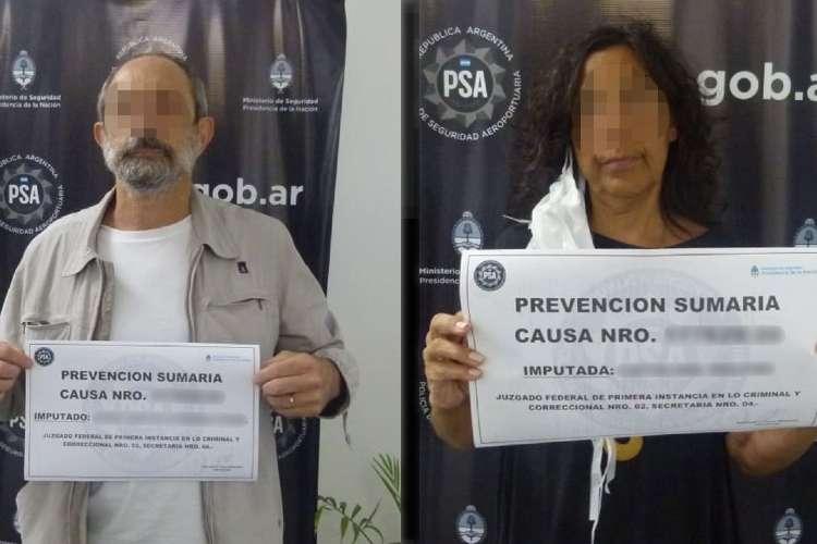 La Policía Aeroportuaria detuvo a una pareja por incumplir el aislamiento preventivo y obligatorio