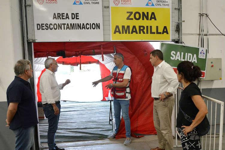 Zamora también presentó el nuevo Centro de Aislamiento de Emergencias de Tigre, ubicado en Troncos del Talar, un espacio de 11.000 metros cuadrados cedido por un empresario.