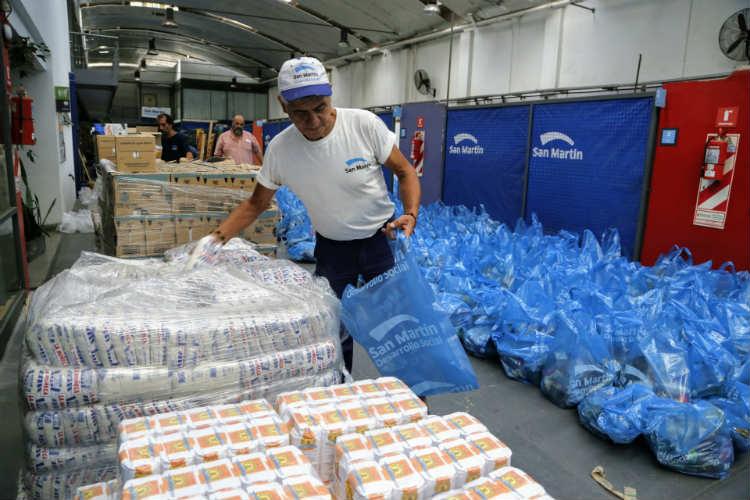 San Martín incrementa los alimentos e insumos destinados a comedores y merenderos