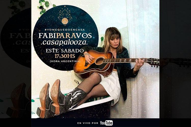 Fabi Cantilo sorteará una guitarra autografiada