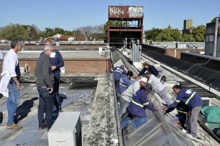 Avanzan con las mejoras edilicias y trabajos de reacondicionamiento en el Hospital de Pacheco