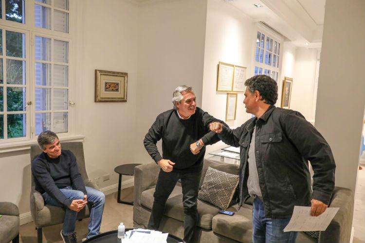 El presidente recibió a los intendentes de Vicente López y Hurlingham