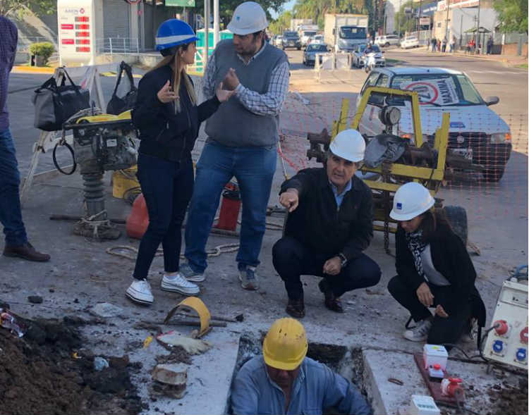 AySA reactivó las obras de cloaca en Tigre que estaban paralizadas
