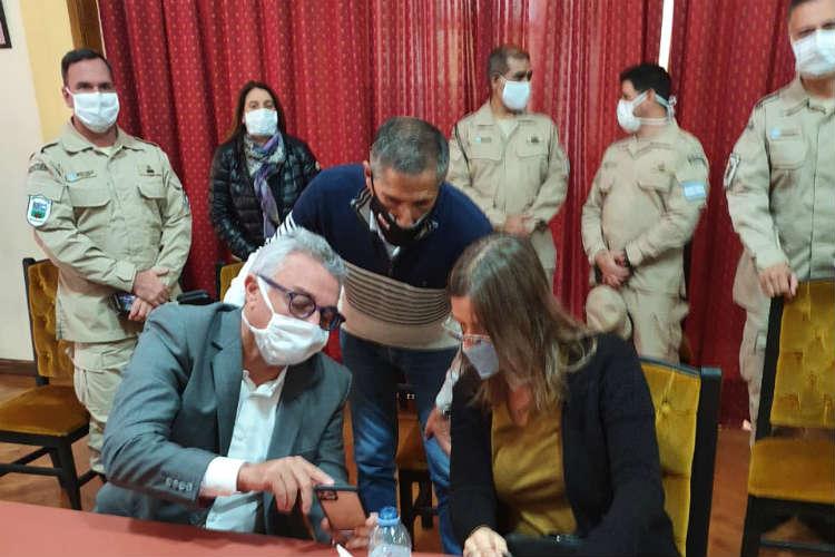 La Ministra Sabina Frederic supervisó en Tigre controles por Covid-19 junto al intendente Julio Zamora