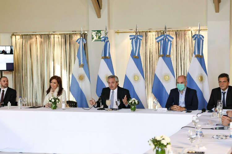 Sergio Massa, Cristina Kirchner, Alberto Fernandez