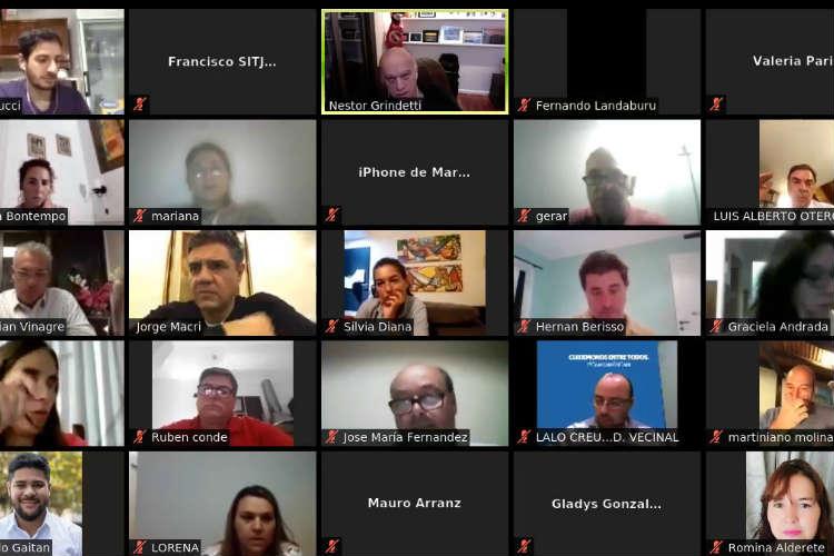 Jorge Macri y Nestor Grindetti dialogaron con más de 70 dirigentes de Juntos por el Cambio