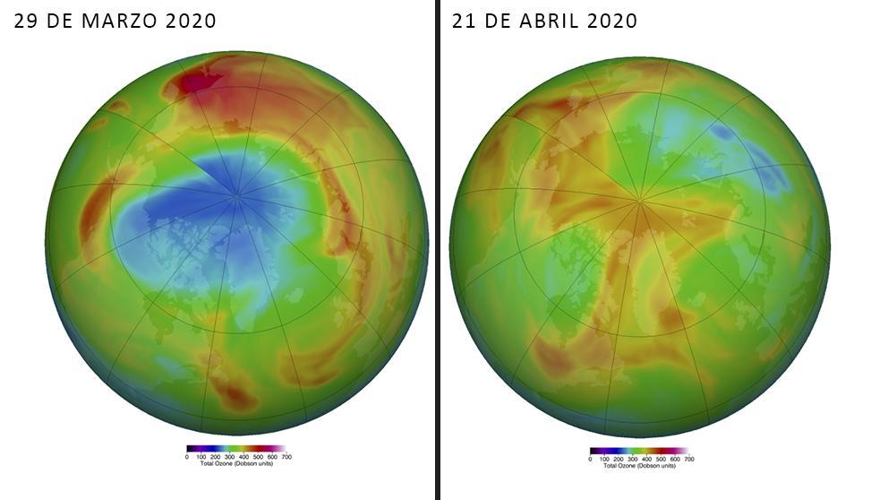 Se cierra el agujero de ozono más grande observado en el Ártico