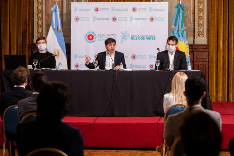 El gobernador de la provincia de Buenos Aires, Axel Kicillof, presentó esta mañana el Plan de Impulso Productivo