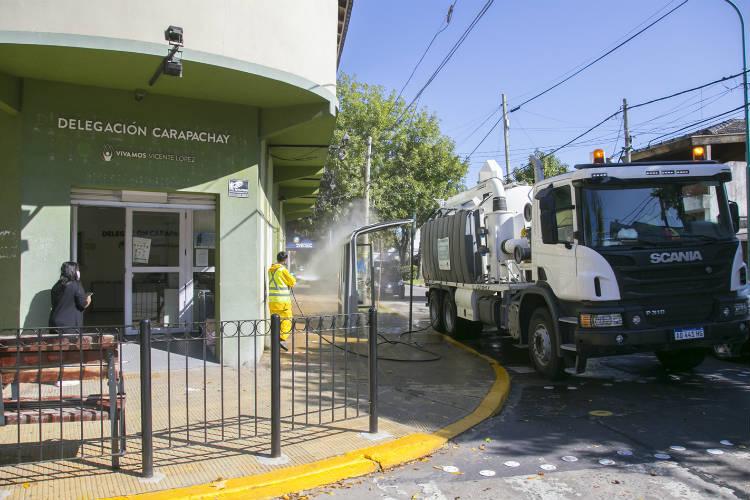 Vicente López suma equipamiento para la higienización del espacio público