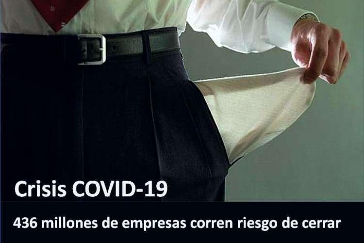 COVID-19: 436 millones de empresas corren riesgo de cerrar.