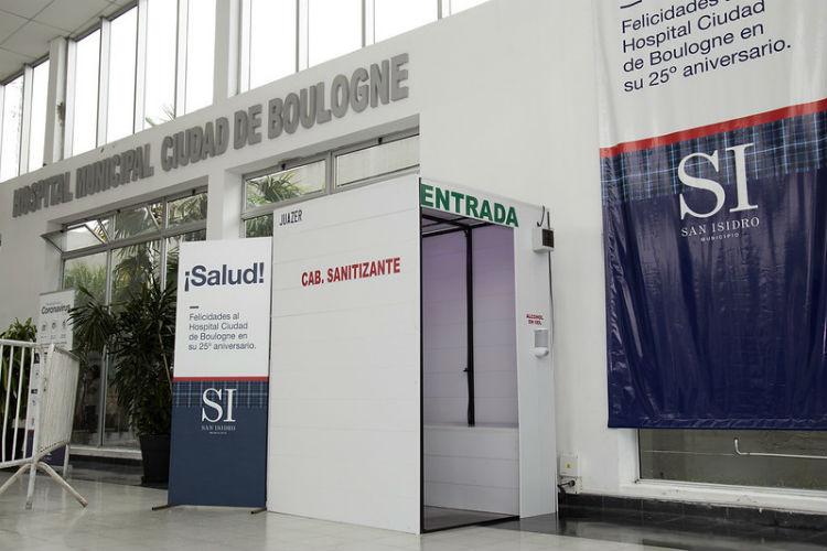 El hospital de Boulogne incorporó una cabina sanitizante