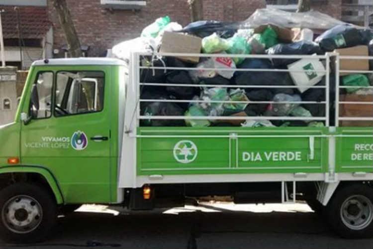 La recolección de residuos reciclables y montículos continúa con normalidad en Vicente López