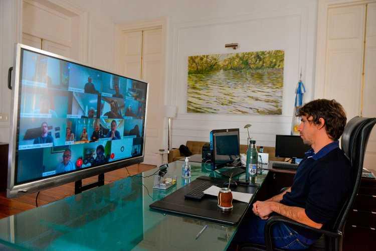 Andreotti se reunió en videoconferencia con Intendentes de la Zona Norte, Rodríguez Larreta y Pedro Cahn