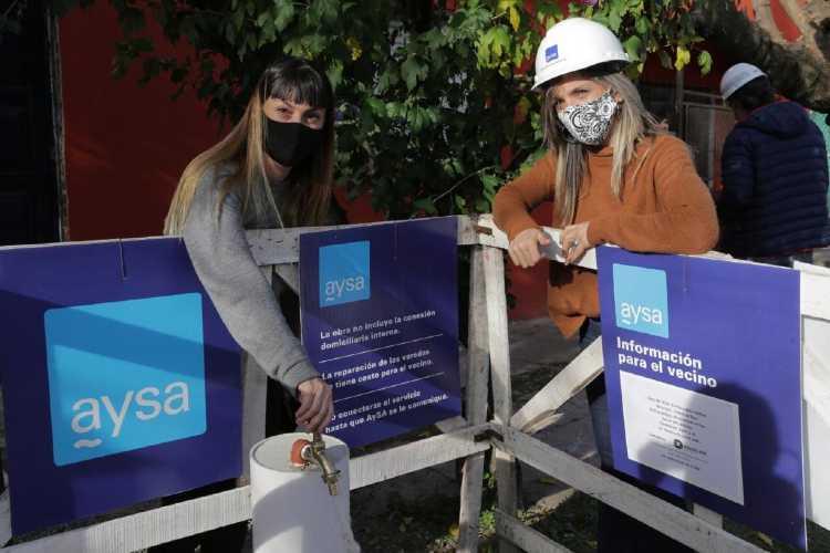 En Tigre, Malena Galmarini inauguró una red de agua que beneficia a 12.000 vecinos de Benavidez