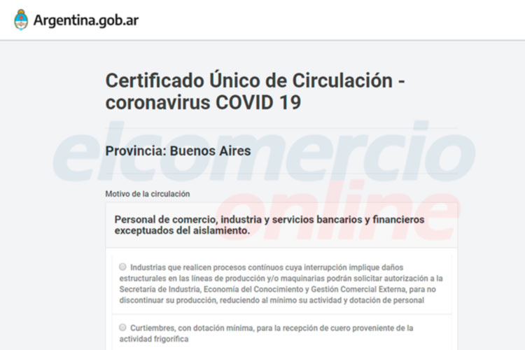 Es OBLIGATORIO el Certificado Único de Circulación en la Provincia de Buenos Aires