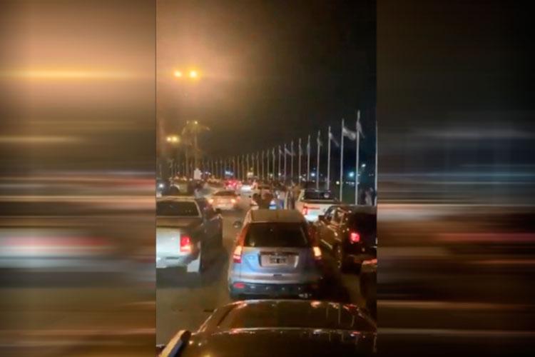 La marcha se realizó en vehículos particulares desde el Barrio Santa Teresa hasta la estación de Tigre. Fuerte repudio de la Asamblea de Dique Luján y Villa la Ñata.