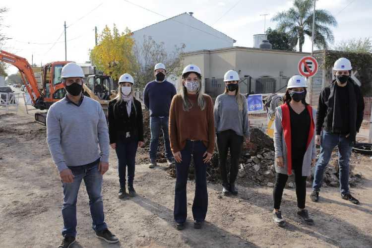 Malena Galmarini puso en marcha obras de cloaca para 12.000 vecinos en Gral Pacheco
