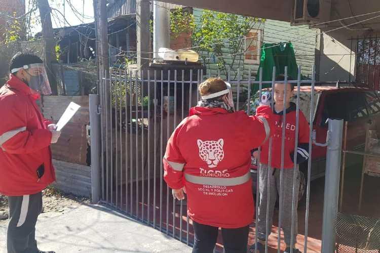 Operativos en barrios de Tigre para detectar casos sospechosos de COVID-19