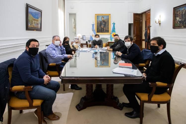 Participaron del encuentro los intendentes: Gustavo Menéndez (Merlo), Alberto Descalzo (Ituzaingó), Fernando Moreira (San Martín) y Leonardo Nardini (Malvinas Argentinas).