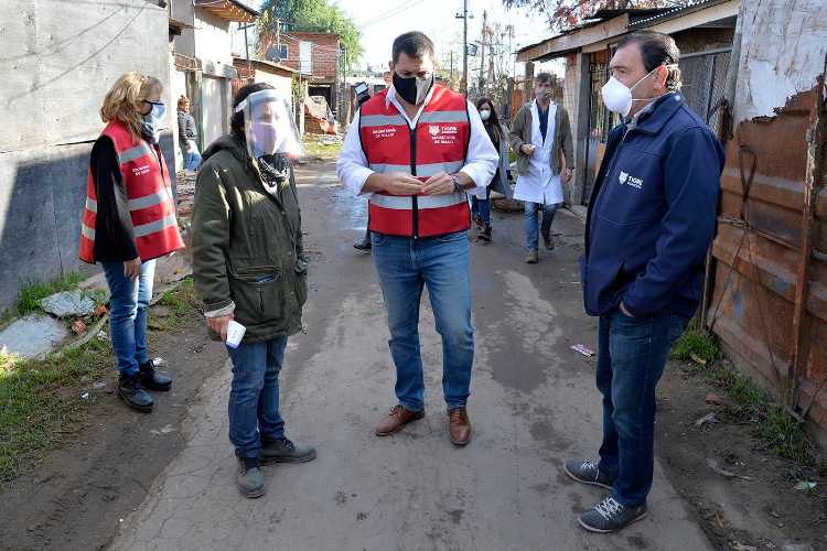 Tigre: Realizaron un operativo para detectar casos sospechosos de Coronavirus en el barrio Alte Brown